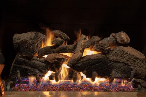 Propane gas log set